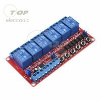 DC 12V 6-Channel Relay Module High/Low Level Triger Self-Lock Relay