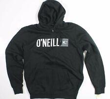 ONeill Hooded Sweatshirt Zip Up Black White New