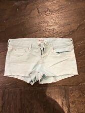 "Ladies Pepe Jeans Portobello Shorts. Mint green waist 27""  VGC"