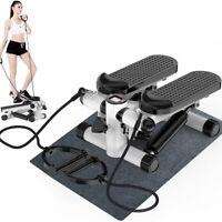 Mini Aerobic Fitness Air Climber Stair Stepper Stepp Machine W/Resistance Bands