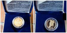 SAN MARINO 2 SCUDI 2003 FS NOSTRADAMUS ORO GOLD OR WHIT ORIGINAL  BOX