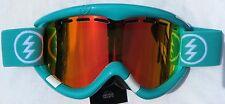NEW $130 Mens Electric EG1 Teal White ski winter snow goggles Red Orange Mirror