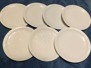 7- DESSERT PLATES SYRACUSE CHINA ,5-FLOWERS ,2- PINEAPPLE /FRUIT -shelledge