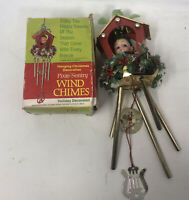 VTG PIXIE-SENTRY HANGING WIND CHIMES ELF HOLIDAY DECOR HONG KONG BOX *CUTE*
