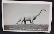 Dinosaur Park Rapid City Sd 1940s Brontosaurus Rppc Postcard