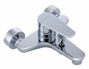 Badarmatur Wannenfüllmischer Badewannenarmatur Messing verchromt
