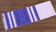 Ukrainian Wedding Blue Rushnyk Hand Embroidery 200x30cm Mother'S Day Gift