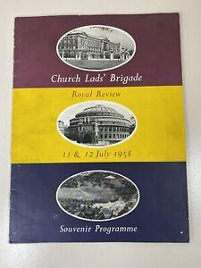 Church Lads Brigade Royal Review 11th & 12th July 1958 Souvenir Programme