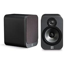 Q Acoustics 3020 Bookshelf Speakers - (Pair) (Graphite) Black Pair 2-Way Reflex