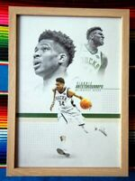 ✺Framed✺ GIANNIS ANTETOKOUNMPO Milwaukee Bucks NBA Poster - 45cm x 32cm x 3cm