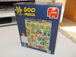Jumbo Jan Van Haasteren Platform Pandemonium 500 Piece Jigsaw Puzzle Complete