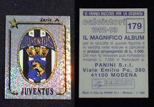 ***CALCIATORI PANINI 1992/93*** SCUDETTO JUVENTUS N.179 - NUOVO !!!