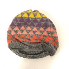 Baby Gap Toddler xs/s WARM Gray winter hat knit cap - Colorful triangles - Hbx12
