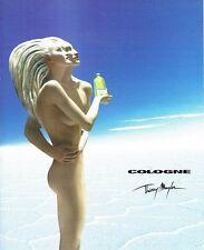 Publicité Advertising  2001  Eau de Cologne par Thierry Mugler