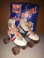 Vintage The New Royal Sidewalk Shoe Skates White12 Official Roller Derby Skate
