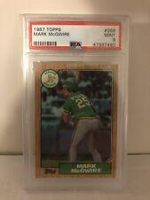 Mark McGwire Oakland Athletics As 1987 Topps Baseball Rookie Card #366 PSA 9