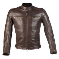Mens Brown Real Leather Summer Motorbike Motorcycle Jacket Biker Armour Jackets