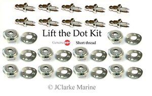 """Lift the dot kit (3/8"""" stainless screw stud, socket, plate) boat cover fastener"""