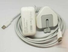 Reino Unido Cargador Adaptador de corriente USB 30W C para Mac Book MJ262L A1540 con Cable 2M C PD