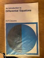 Introduction to Differential Equations by Cleaves, Howard Frederick