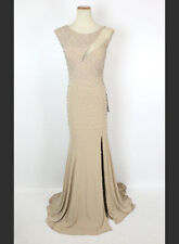 New Jovani 93143 Authentic Nude Beaded Sleeveless Bridal Evening Gown Women 4