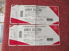 robbie williams used tickets X2,21ST JUNE 2017,PRINCIPALITY STADIUM,CARDIFF,(2)
