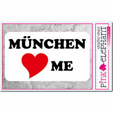München loves Me - Aufkleber 13 cm x 7,5 cm - bumper sticker - I love...