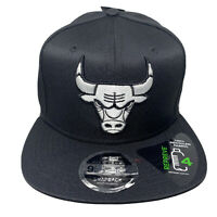 New Era NBA 9Fifty CHICAGO BULLS Black Recycled White Logo 950 Snapback Hat Cap