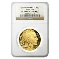 2009 W 1 oz $50 Proof Gold American Buffalo NGC PF 70 UCAM