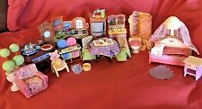 Fisher Price Loving Family Dollhouse Furniture Lot- Baby Bed Bath Kitchen Dining
