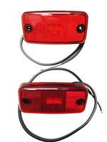2x LED Umrissleuchte Rot 12/24V 110x54x16 mm Begrenzungsleuchte Kabel LKW SET