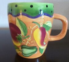 Laurie Gates Vegetables and Blue Dots Orange Large Gatesware