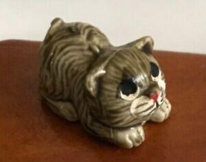 Vintage Doll's House Ceramic Cat Ornament 1:12 Scale Ceramic