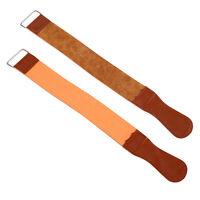 """18.5"""" Barber Leather Strop Straight Razor Sharpening Shave Shaving Strap Belt HJ"""