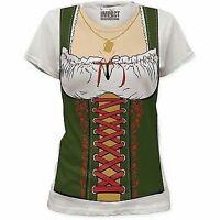 Oktoberfest German Gretchen Beer Maid Fraulein Ladies Women Costume T Shirt S-2X