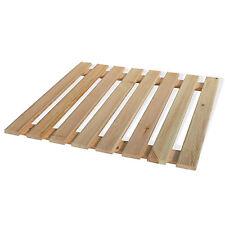 Doccia pedana in legno di pino quadrato 60 x 60 x 2 con doghe per piatto doccia