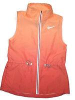 NIKE women's Gradient Orange running Vest MEDIUM retail $110