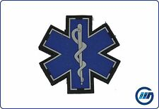 Rubberpatch Rettungsdienst Star Of Life blau