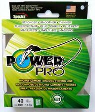 Power Pro Microfilament Braidline 40 Lb. 300Yds Moss Green Item K 70