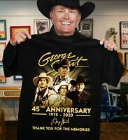 George-Strait 45th Anniversary 1975-2020 thank you for the memories T-shirt