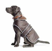 Ancol Stormguard Chocolate Brown Waterproof Fleece Dog Coat All Sizes