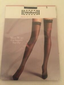 Wolford Miss W30 Leg support stay -up in Small in Black UK10 perfect condition