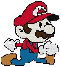 Counted Cross Stitch Pattern, Super Mario - Free US Shipping