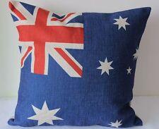 Vintage Australia Flag Cotton Linen Cushion Cover Throw Pillow Home Decor S92