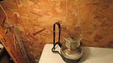 Antique Tin Bracket Kerosene Lamp