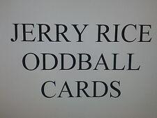 JERRY RICE ODDBALL cards $1.99 each - SAN FRANCISCO 49ers