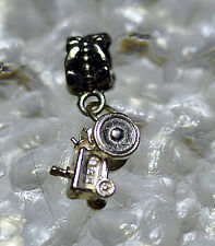 LOOK Lawn Tractor Farm charm bead dangle charm fits jewelry bracelet Sterling si