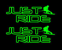 2 JUST RIDE WAKE BOARD DECAL STICKER PACK WAKEBOARD