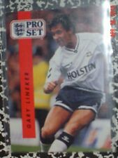 Hofer Gary Lineker plus 8 other 1990/91 ProSet British Soccer Cards; Vg+ condn.