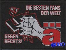 Aufnäher + Die ÄRZTE + Gegen Rechts + Die besten Fans der Welt + NEU + Kult +